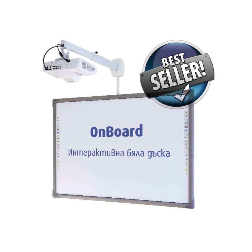 Интерактивната дъска OnBoard е най-продаваният продукт на Юнион Интерактив - оборудвали сме над 150 класни стаи в цяла България с интерактивна дъска OnBoard