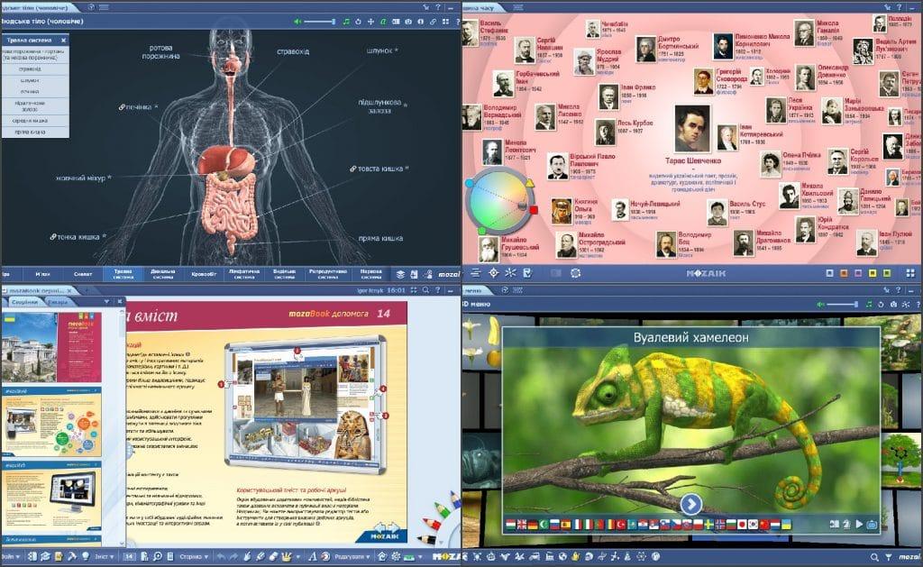 Софтуер mozabook classroom - различни дейности, 3d модели и симулации по физика химия биология