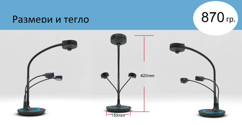 Размери на мини-скенера, който се предлага от Юнион Интерактив