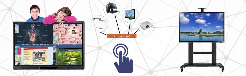 """Интерактивни дисплеи """"all-in-one"""" - комбинира интерактивната дъска, компютъра и проектора в един продукт"""