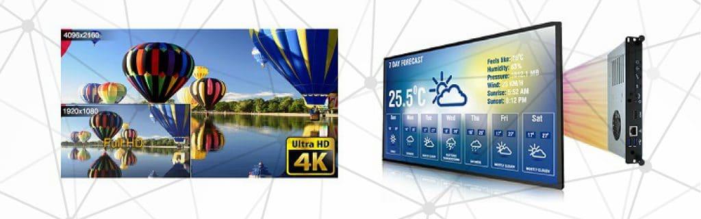 UHD, 4K качество на картината на интерактивни дисплеи GAOKE + вграден компютър