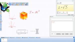 Изглед на софтуер за създаване на интерактивни уроци към интерактивна дъска OnBoard