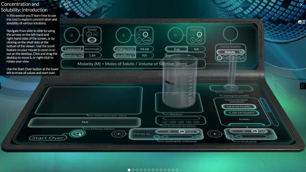 VIVED Chemistry софтуер за zSpace за създаване на виртуална лаборатория
