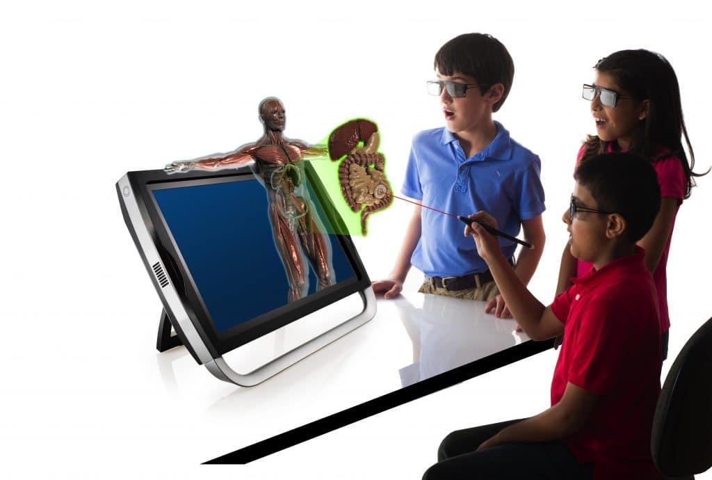 3d холограма на човешко тяло във виртуална и добавена реалност на zSapce®