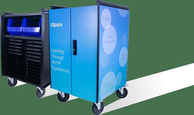 шкаф за зареждане на zspace® laptop