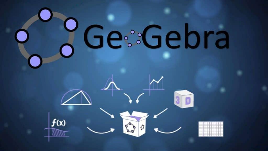 Лого на софтуера GeoGebra, който може да се използва със zSpace® за виртуално обучение по математика, геометрия и аналитична геометрия