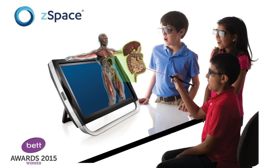 Деца работят на zSpace - технология №1 в STEM обучението