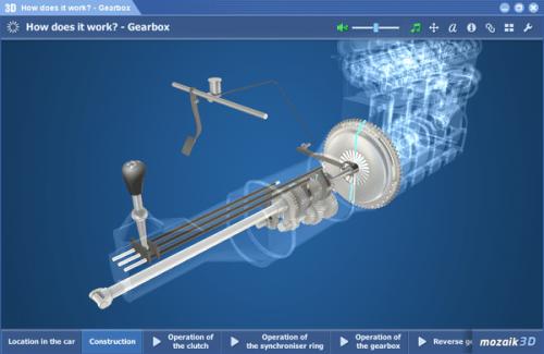 mozaBook Classroom - 3D модел скоростна кутия