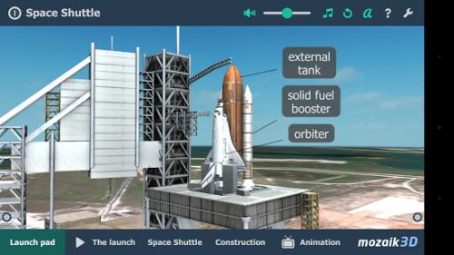 mozaBook Classroom - 3D модел на ракета